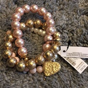 Chico's blush bracelet set.